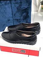 Туфли женские черные Doren 20206-000-siyah, фото 2