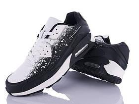 Мужские демисезонные черно/белые низкие кроссовки на шнуровке