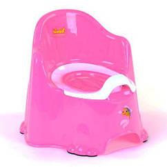 Горшок со спинкой и крышкой Bimbo, светло-розовый