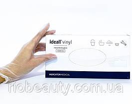 Перчатки виниловые неопудренные размер M 50 пар