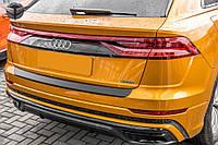 Захисна накладка на задній бампер Audi Q8 2019 - р. в. ABS пластик