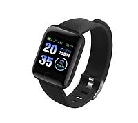 Смарт-годинник 116 PLUS для Android з пульсометром чорні, фото 1
