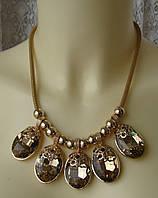 Ожерелье женское колье модное металл ювелирная бижутерия 5028