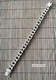 Серебряный мужской браслет мото цепь, фото 6