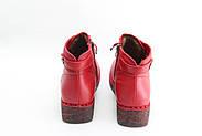 Красные кожаные осенние ботинки MeegoComfort  25-5-bright-red, фото 3