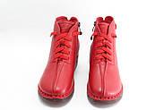 Красные кожаные осенние ботинки MeegoComfort  25-5-bright-red, фото 2
