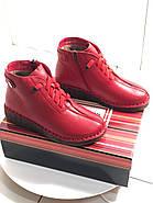 Красные кожаные осенние ботинки MeegoComfort  25-5-bright-red, фото 4