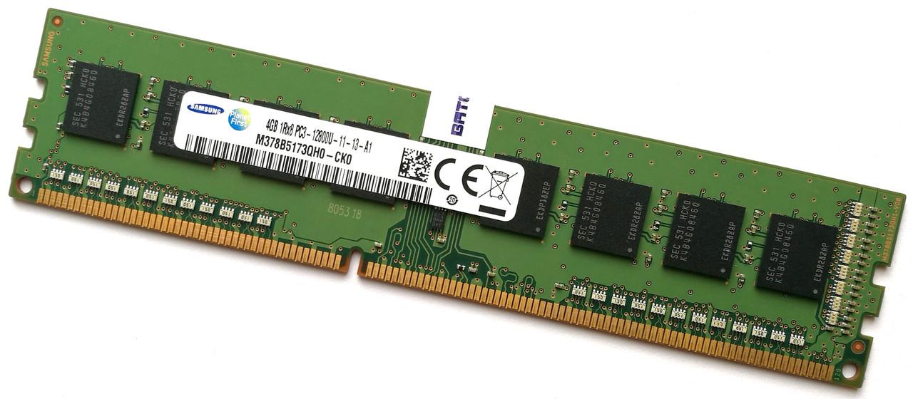 Оперативная память Samsung DDR3 4Gb 1600MHz PC3 12800U 1R8 CL11 (M378B5173QH0-CK0) Б/У