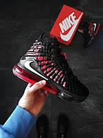 Баскетбольные кроссовки Nike Lebron James XII Черно-красные