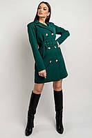 Трендовое платье-пиджак Марго длиной мини с двубортной застежкой 42-52 размер разные цвета