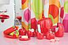 Набор аксессуаров в ванную комнату 5 предметов Нора красный