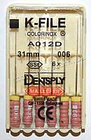 K-File 31мм, уп.6шт, №006, Dentsply Maillefer