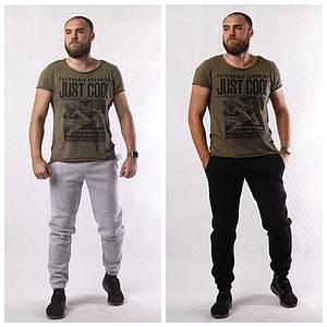 Чоловічі теплі спортивні штани 3-нитка 52-56р