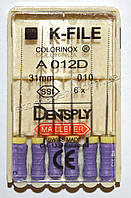 K-File 31мм, уп.6шт, №010, Dentsply Maillefer