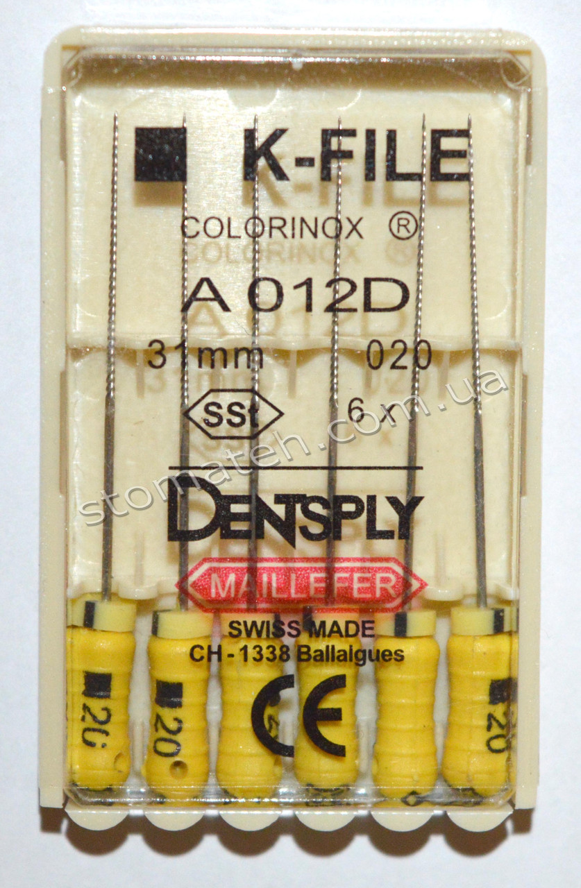 K-File 31мм, уп.6шт, №020, Dentsply Maillefer