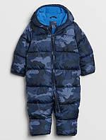 Детский комбинезон GAP Print Puffer One-Piece для мальчика камуфляж зима еврозима евро зима