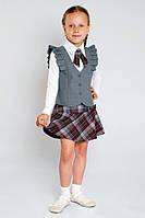 Блузка для девочки трикотаж, школьная блуза для девочек, нарядные блузки для девочек, блуза