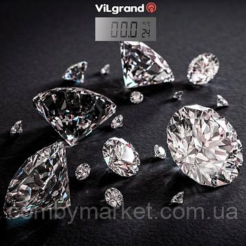 Ваги підлогові електронні 180 кг, с термометром; 30х30 (Diamonds) ViLgrand VFS-1832_Diamonds