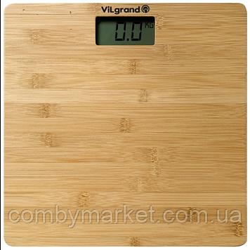 Ваги підлогові електронні 180 кг; 30х30; бамбукова платформа ViLgrand VFS-1831B
