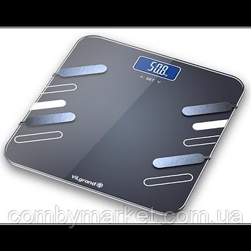 Ваги підлогові електронні 180 кг, аналізатор; 30х30 ViLgrand VFS-1834
