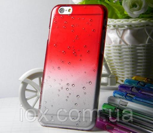 Красный чехол с эффектом росы для Iphone 6/6S