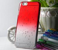 Красный чехол с эффектом росы для Iphone 6/6S, фото 1