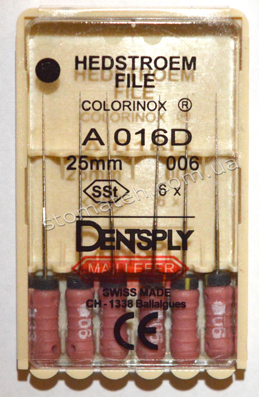 H-File 25мм, уп.6шт, №006, Dentsply Maillefer