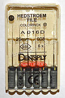 H-File 25мм, уп.6шт, №008, Dentsply Maillefer