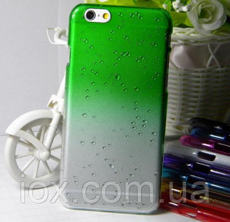 Зеленый чехол с эффектом росы для Iphone 6/6S