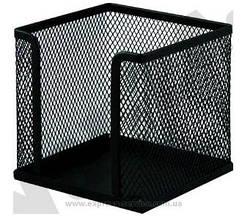 Бокс BUROMAX для паперу металевий 6215-24 100х100х100мм сірий