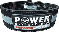 Пояс для пауэр-лифтинга POWER LIFTING PS-3800 черно-серый (Power system)