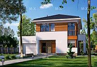 Проект просторного жилого дома с террасой МS202 ., фото 1