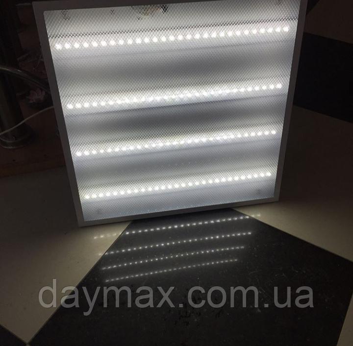 Светодиодный светильник (панель) LED Армстронг (призматик / колотый лед) 595*595 Optima, 36w, 6500К