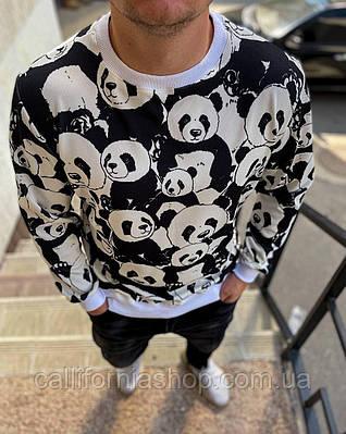 Мужской свитшот молодежный с принтом Панда