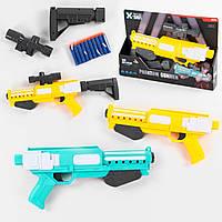 Автомат, пистолет TQ 2030, 10 мягких патрон на присоске, съемный приклад и прицел