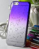 Синий чехол с эффектом росы для Iphone 6/6S, фото 1