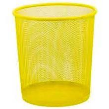 Корзина ZiBi для паперів металевий кругла 295*295*280мм Жовта