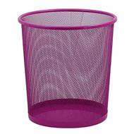 Корзина ZiBi для паперів металевий кругла 295*295*280мм Рожева