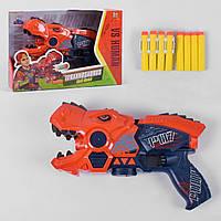 """Пистолет-бластер, автомат 6001 А, """"Тиранозавр"""", на батарейках, подсветка глаз, звук"""