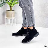 Жіночі черевики ДЕМІ чорні на шнурівці натуральна замша весна/осінь, фото 4