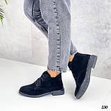 Жіночі черевики ДЕМІ чорні на шнурівці натуральна замша весна/осінь, фото 6