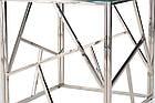 Кавовий столик CF-2 прозоре скло + срібло від Vetro Mebel, фото 7
