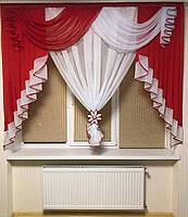 Фіранка в дитячу кімнату вітальню зал, фіранки в дитячу спальню квартиру короткі, красиві фіранки для спальні залу кухні хола ALBO, фото 4