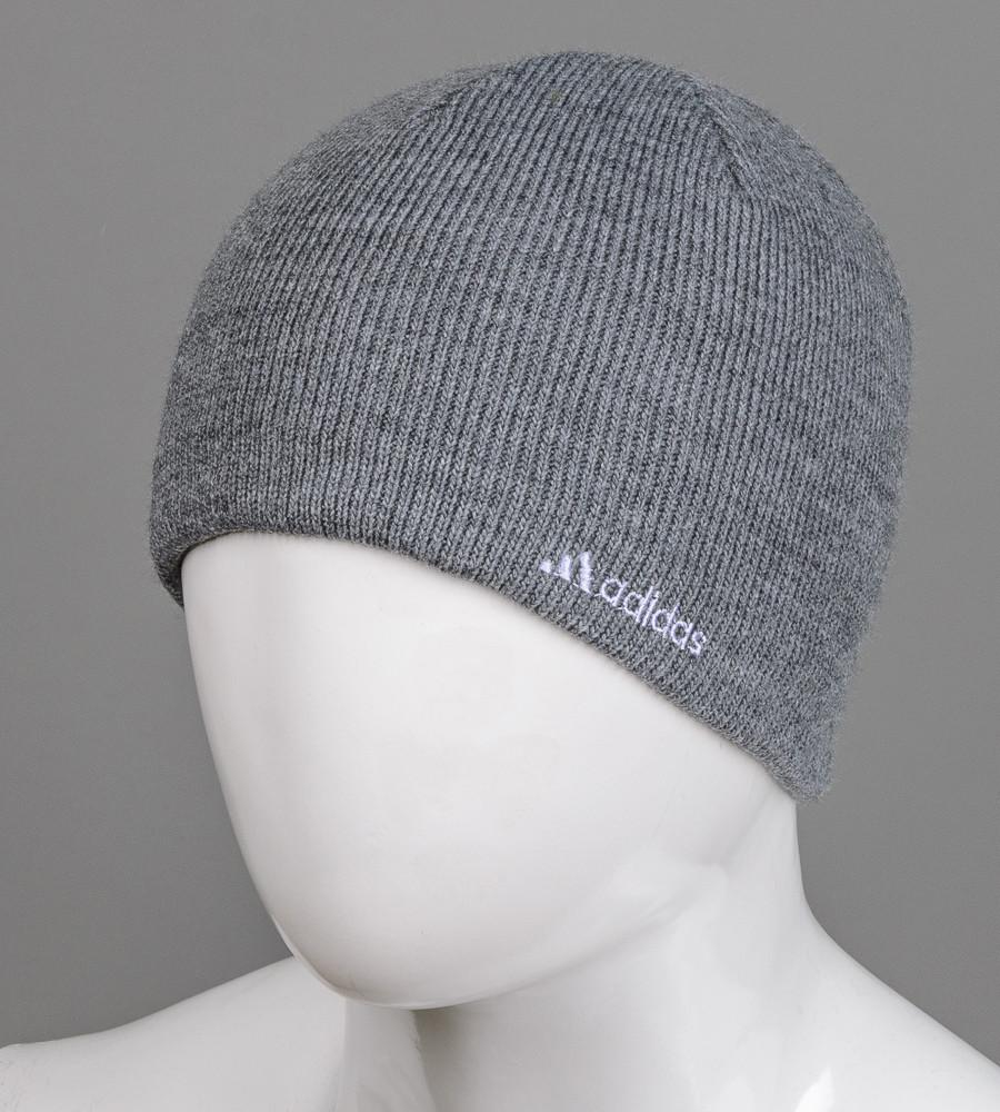 Шапка мужская бюджетная Adidas, Серый