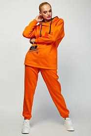 Стильний теплий жіночий костюм з тринитки з начосом великі розміри 48 50 52 54 56 58