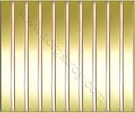 Реечные алюминиевые зеркальные потолки: рейка золото-зеркало со вставкой красное золото-зеркало