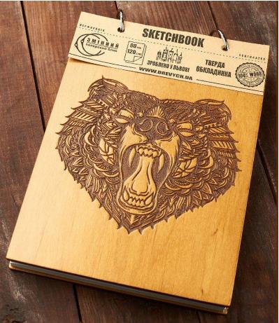 Скетчбук Drevych Bear A5 80 аркушів (0156153)