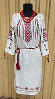 Сукня натуральний льон, ручна вишивка 016 Класика ОГ 120