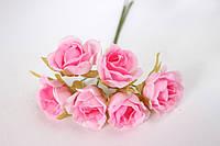 Розочки 60 шт/уп. оптом диаметр 2,5-3 см 60 шт/уп. розового цвета