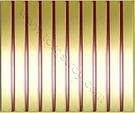 Реечные алюминиевые зеркальные потолки: рейка золото-зеркало со вставкой красная медь, фото 1
